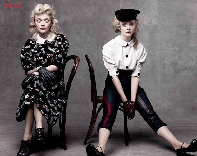Dakota-and-Elle-Fanning-for-Vogue-shoot