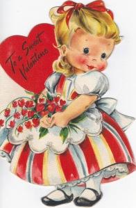 vintage valentine sweet girl